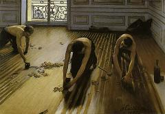 カイユボット 『床に鉋を掛ける人々』 (1875)ブログ用.jpg